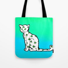 SCAREDY CAT (Cool Colors) Tote Bag