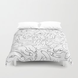 Penis Pattern Black Duvet Cover