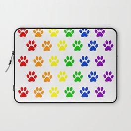Rainbow paws pattern Laptop Sleeve