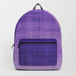 Ultra Violet Purple Linen Ombre Textile Grunge Woven Cotton Gradient Texture Lavender Lilac Pattern Backpack