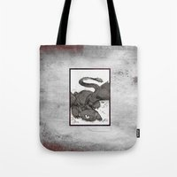 toothless Tote Bags featuring Toothless by SpaceMonolith