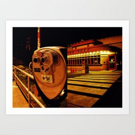 Golden Cafe Art Print