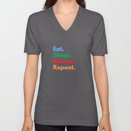 Eat. Sleep. Bounce. Repeat. Unisex V-Neck