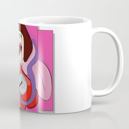 The cardiologist and the lady in the pink wall mural Coffee Mug