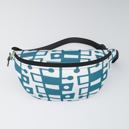 Mid Century Modern Abstract 213 Peacock Blue Fanny Pack