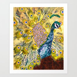 Peacock Party Art Print