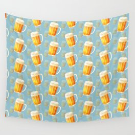 Ice Cold Beer Pattern Wall Tapestry