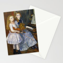 Auguste Renoir  -  The Daughters Of Catulle Mendes  Huguette  Claudine And Helyonne Stationery Cards