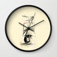 vespa Wall Clocks featuring Vespa by Juan Alonzo