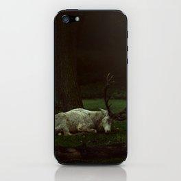 white deer iPhone Skin