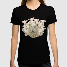 Lambs led by a lion T-shirt