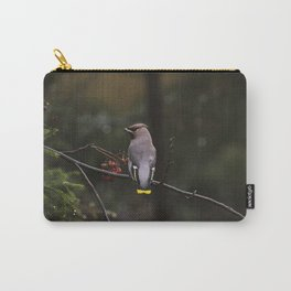 Bohemian waxwing on rowan tree branch Carry-All Pouch