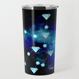 Virgo Constellation in Blue Topaz - Star Signs and Birth Stones Travel Mug