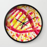 dna Wall Clocks featuring DNA by Eleacuareling