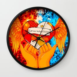 Can We Restart 2020? (Painting) Wall Clock