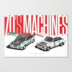70's Machines Canvas Print
