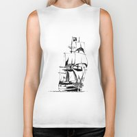 sail Biker Tanks featuring Sail by Roberto J. Viacava