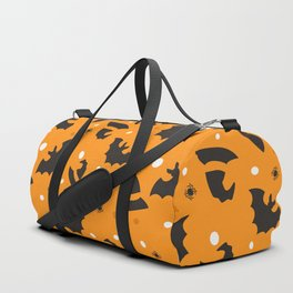 Happy halloween bats and witch hats pattern Duffle Bag