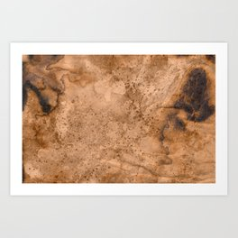 Acrylic Coffee Stained Paper Art Print