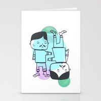 best friends Stationery Cards featuring Best Friends by Silva Ware by Walter Silva