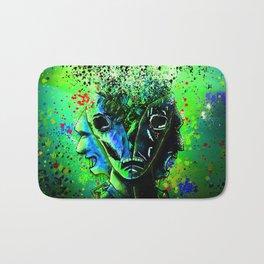 Split-face Green Bath Mat