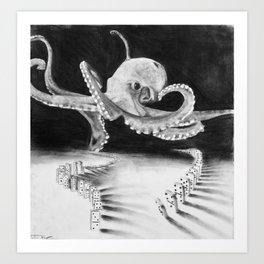 playful octopus  Art Print