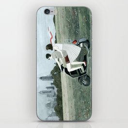 Couple On Scooter iPhone Skin