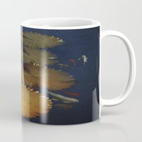 amy pond Mugs featuring Koi Pond by TaLins