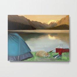 Corky's camping Metal Print