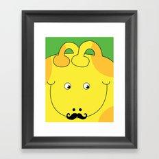Giraffe Love Art Male - Cute, funny, colorful, lovely Children's Art Framed Art Print
