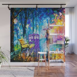 Little Tardis With The Girl Wall Mural