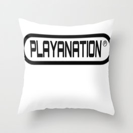 Reg PlayaNationMG BLK Throw Pillow