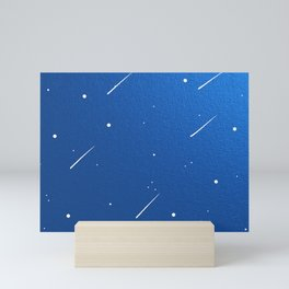 Shooting Stars in a Clear Blue Sky Mini Art Print