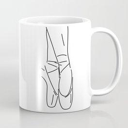 Line Art Ballerina Slippers Coffee Mug