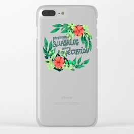 Smashing Expectations Clear iPhone Case