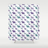 iris Shower Curtains featuring Iris by Zen and Chic