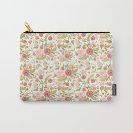 Pink Floral Medley Carry-All Pouch