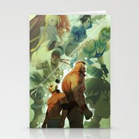 street fighter Stationery Cards featuring Street Fighter by jaimito
