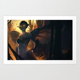 Like a moth to the flame Art Print