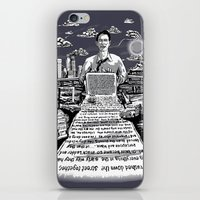 kerouac iPhone & iPod Skins featuring on the road - kerouac  by miles to go