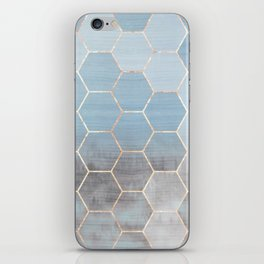 honeycomb winter forest // copper & blue iPhone Skin