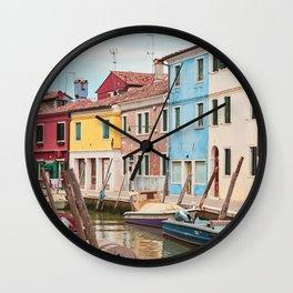 Dreaming Of Burano Wall Clock