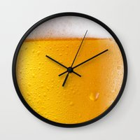 beer Wall Clocks featuring Beer by Rorzzer