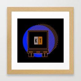 kt sticker rear Framed Art Print