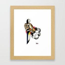 hand & knife Framed Art Print