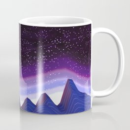 Mountains in Space Coffee Mug