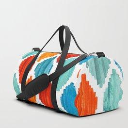 Bright colors tribal ikat pattern Duffle Bag