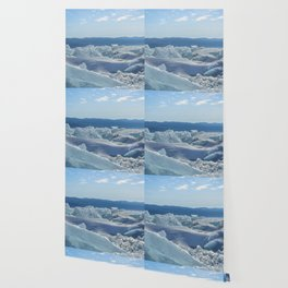 Pressure Ridges of Ice Lake Wallpaper