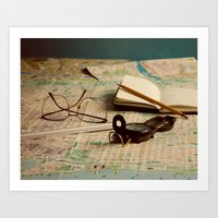 maps Art Prints featuring Maps by Sciuridae