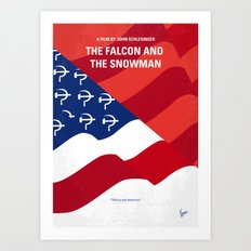 No749 My The Falcon and the Snowman minimal movie poster Art Print